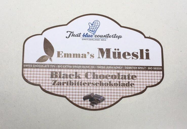 black chocolate label 1