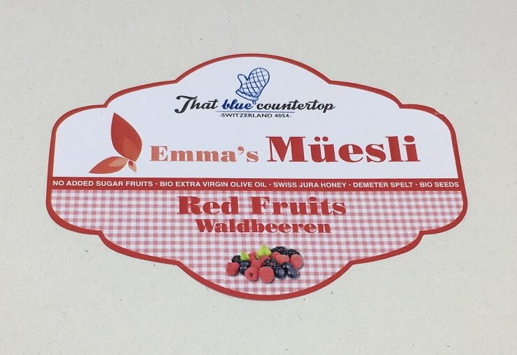 red fruits label 1
